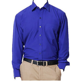 Blue Full Sleeves Solid Shirt