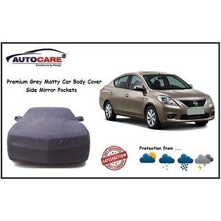 De AutoCare Grey Matty Car Body Cover Mirror Pocket For Nissan Sunny