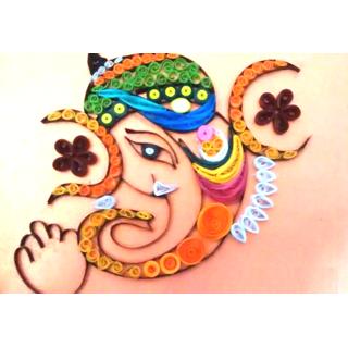 Ganesha Paper quilling arts