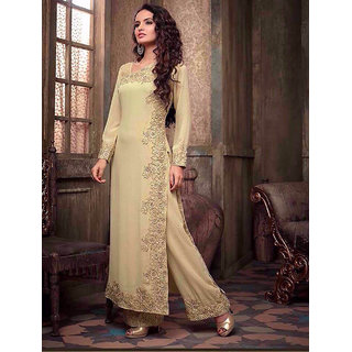 Thankar New Attractive Beige Anarkali Suit