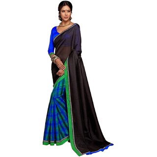 Ps Enterprise Art Silk Black Color Saree - SMV001c9-8014A