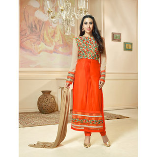 Thankar New Attractive Orange Anarkali Suit