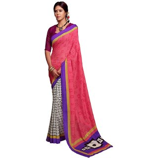 Ps Enterprise Art Silk Pink Color Saree - SMV001c9-8007A