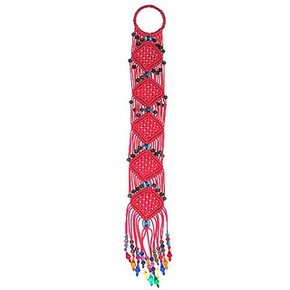 Handmade Macrame Decorative Key Chain Holder In Multi Colour