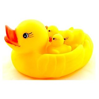 Yellow Rubber Family Duck Set for Kids (4 Pcs)