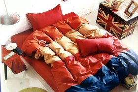 Tulaasi cotton gauze oxford plain double bedsheets with pillows