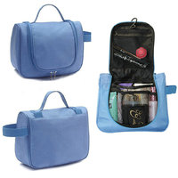 Cosmetic Makeup Bag Travel Storage Bag Hanging Toiletries Bag Organizer - Blue