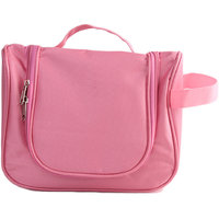 Multi Function Women Cosmetic Makeup Bag Travel Storage Bag Hanging Toiletries Bag Organizer Bag Waterproof - Pink