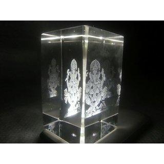 Clear Crystal Ganesh Ganesha Idol Statue One Piece Religious Gift Item