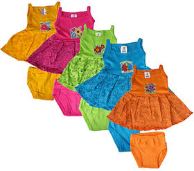 Shreeji Garments Multicolour Cotton Skirt (Pack of 5)