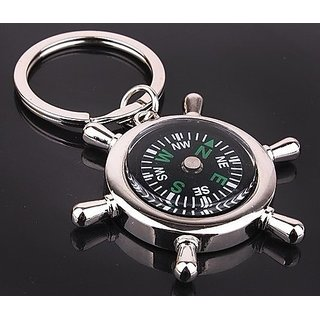 Free Shipping Magnetic Waterproof Compass Keychain For House Car Office Bike Key