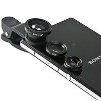 Universal 3in1 Clip Fish Eye Lens Wide Angle Macro Mobile Phone Lens Smart Phone