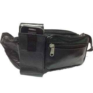MENS LEATHER BUM BAG/WAIST BELT POUCH/MONEY POUCH/MOBILE POUCH/TRAVEL DOCUMENTS