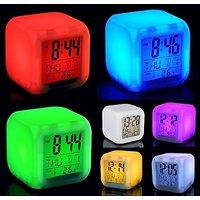 Glowing Cube Color Changing Digital Alarm Clock