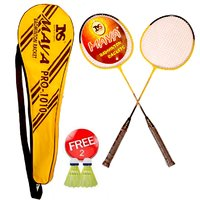 MS PRO 1010 Badminton Racket set of 2 with sling cover 2 Shuttle Free