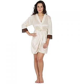 hübsch und bunt heißes Produkt strukturelle Behinderungen Klamotten Cream Cotton Plain Night Gowns & Nighty