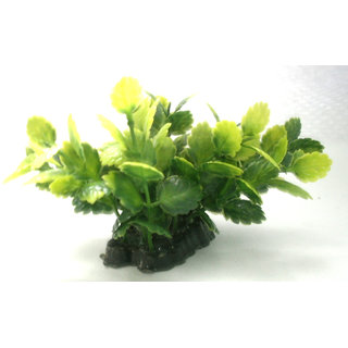 Aquarium decoration plastic plant fish tank use green leaf 8 cm