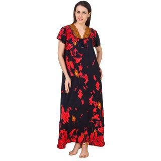 a98509acd7 Buy Fasense Women Cotton Nightwear Sleepwear Long Nighty (DP179 A ...