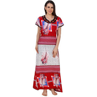 Buy Fasense Women Cotton Nightwear Sleepwear Long Nighty (DP181 B) Online -  Get 65% Off 97ae910cc