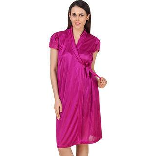 1daaca4c2 Buy Fasense Women Satin Nightwear Sleepwear Short Wrap Gown (DP183 C ...