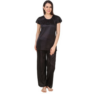 Buy Fasense Women Satin Nightwear Sleepwear Top Pyjama Set (DP184 B ... b1458df74