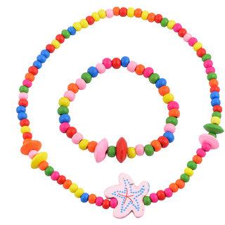 Angel Glitter  Night Blooming White Flower 3-Pcs Jewellery Set For Kids