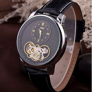 Luxury Royal Carving Automatic Mechanical Skeleton Quartz Watch for Men With Box