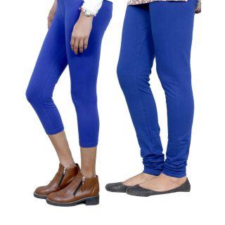 IndiWeaves Girls Blue Cotton Capri With 1 Legging (7180671031-IW)