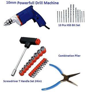 Powerful Electric Drill Machine 10mm 100 Genuine