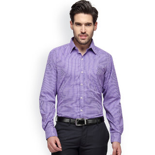 Copperline Formal Pink Navy Checks Shirt - CPL1147