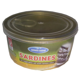 oceans secret sardines in vegetable oil with lemon slice 180g