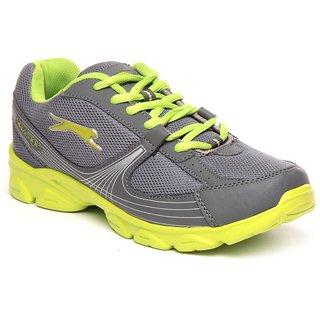 Slazenger Grey  Lime Sports Shoes