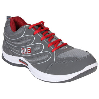 Columbus Gray  red Sport Shoes
