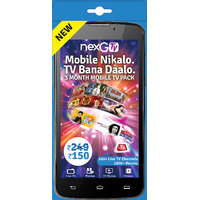 nexGTv ( Mobile Tv 3 Month Subscription Pack)