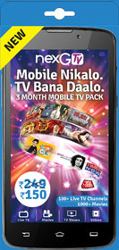 nexGTv ( Mobile Tv 3 Month Subscription Pack)