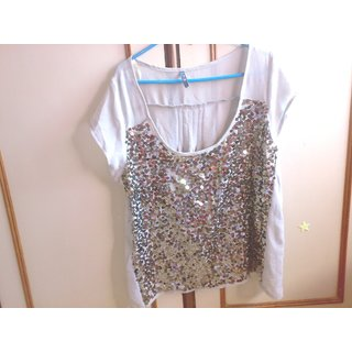 Grey Top-Designer-Silver Work-Imported Material - Rs.300 - BrandNew