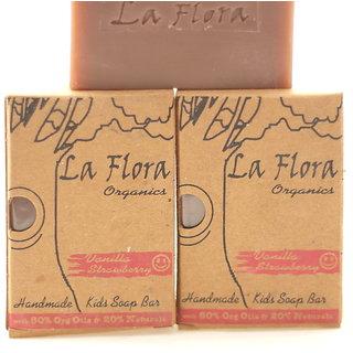 Vanilla Strawberry Kids Handmade Soap combo of 3 soaps