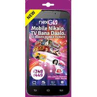 nexGTv ( Mobile Tv 12 Month Subscription Pack)