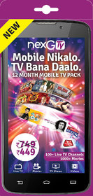 nexGTv ( Mobile Tv 12 Month Subscription Pack)