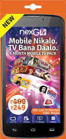 nexGTv ( Mobile Tv 6 Month Subscription Pack)