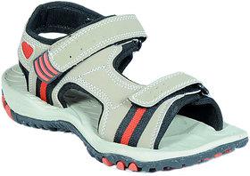 Mens White,Red Velcro Sandals