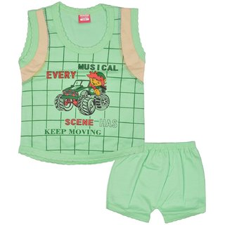 Baby Girls  Boys Cotton Sleeveless Clothing Set
