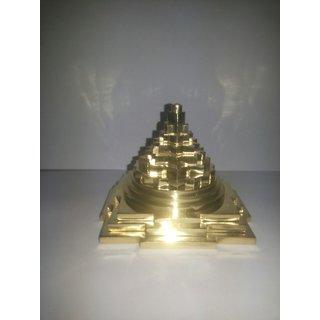 meru shir yantra in brass (solid) 865g