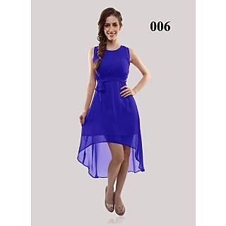 Shreeji Fashion New Design Of Blue Georgette Semi-Stitched Kurti