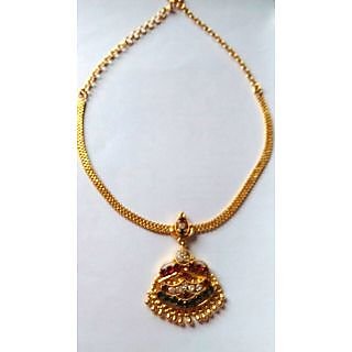 Gold Plated Red Stone jewllery