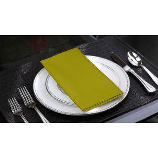 Lushomes Palm Cotton Plain 6 Table Napkins Set (Dinner Napkins)