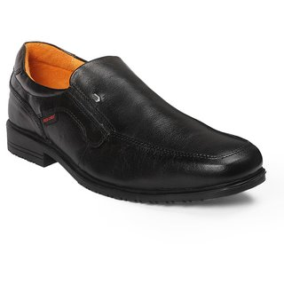 Red Chief Black Men Slip On  Formal Leather Shoes (RC5091 350)