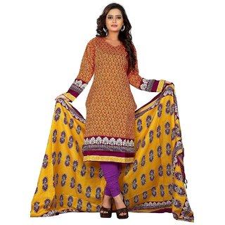 Clickedia Womens Cotton A line long yellow Kurta