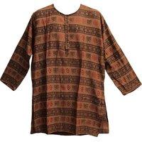 OM Printed Brown Colour Kurta for Men
