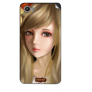 Instyler Mobile Skin Sticker For Micromax Canvas Fire 4Gplus Q412 MSMMXCANVASFIRE4GPLUSQ412DS-10068